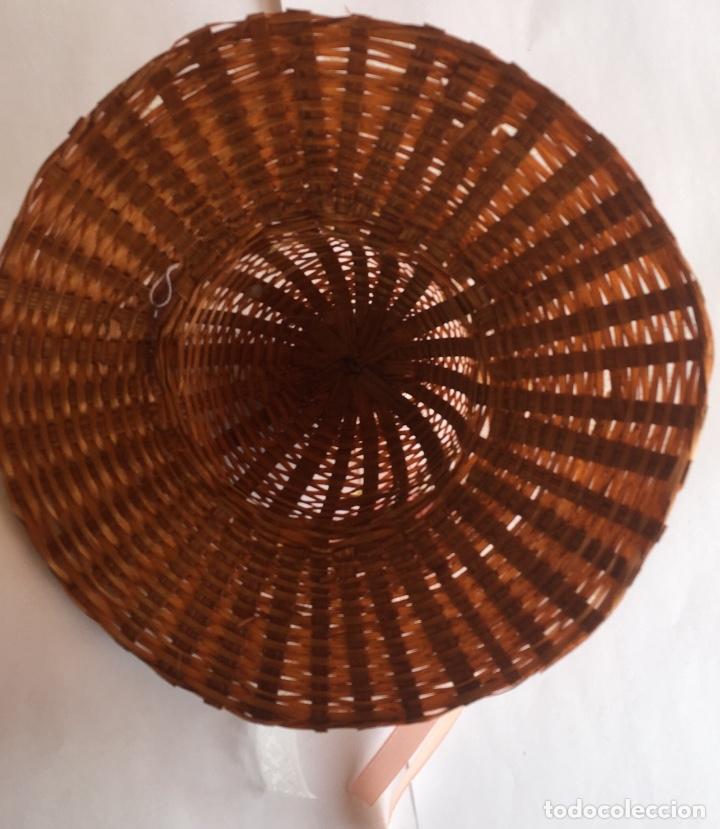 Vestidos Muñeca Española Clásica: Sombrero paja para muñeca antigua - Foto 4 - 159379878
