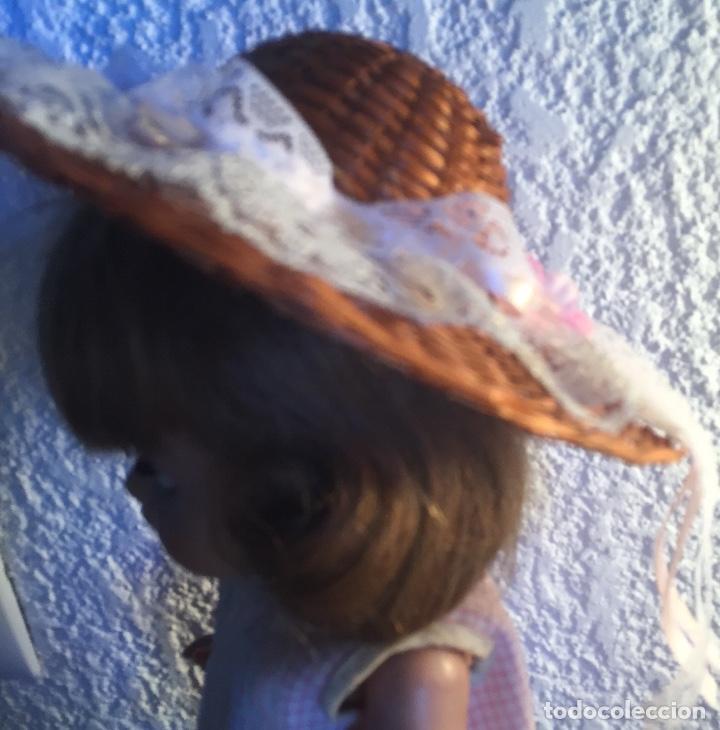 Vestidos Muñeca Española Clásica: Sombrero paja para muñeca antigua - Foto 5 - 159379878