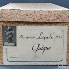 Vestidos Muñeca Española Clásica: CAJA VACÍA QUIQUE MANUFACTURAS LOPADI AÑOS 50. Lote 166131514