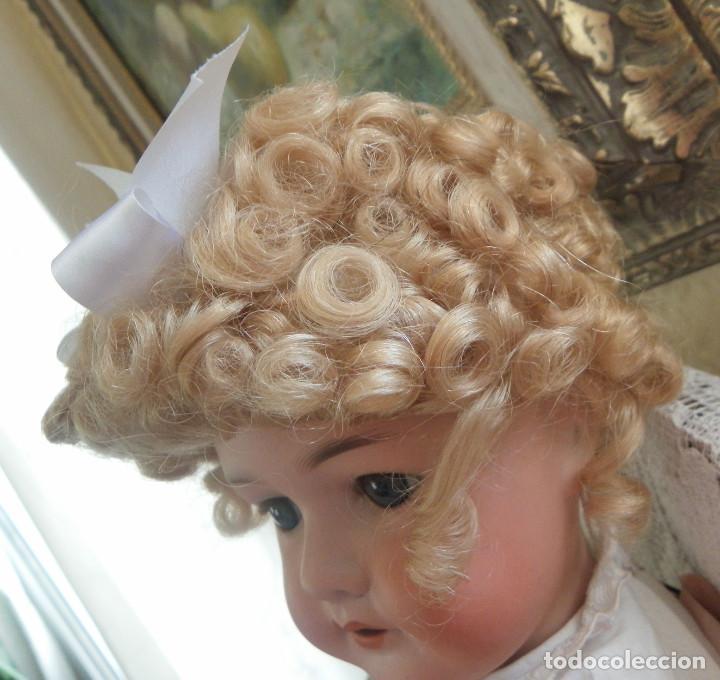Vestidos Muñeca Española Clásica: peluca para la muñeca. Pelo natural. Contorno 33-35 cms. - Foto 2 - 168742764
