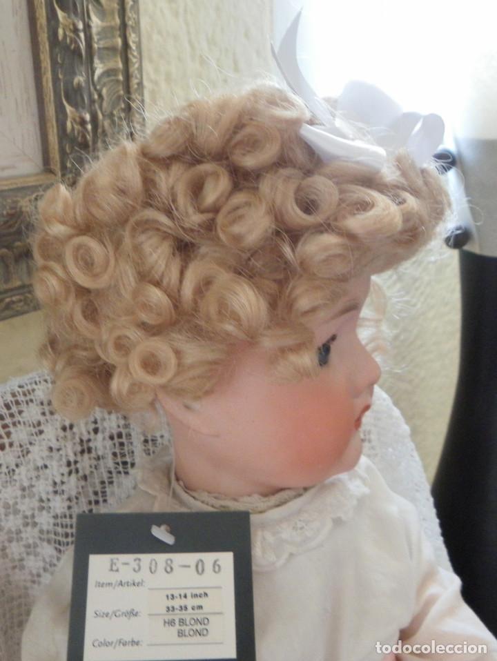 Vestidos Muñeca Española Clásica: peluca para la muñeca. Pelo natural. Contorno 33-35 cms. - Foto 3 - 168742764