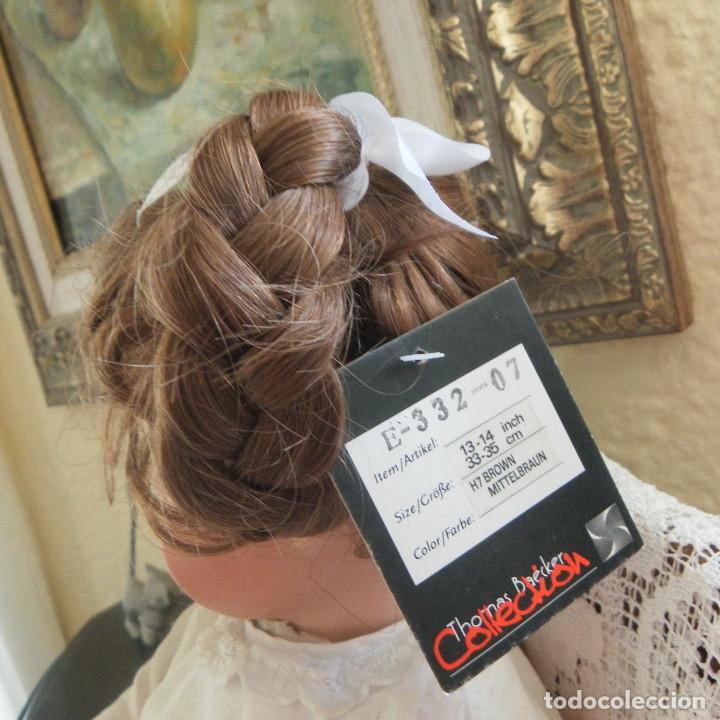Vestidos Muñeca Española Clásica: peluca para la muñeca. Pelo natural. Contorno 33-35 cms. - Foto 2 - 168760000