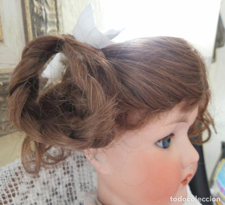 Vestidos Muñeca Española Clásica: peluca para la muñeca. Pelo natural. Contorno 33-35 cms. - Foto 4 - 168760000