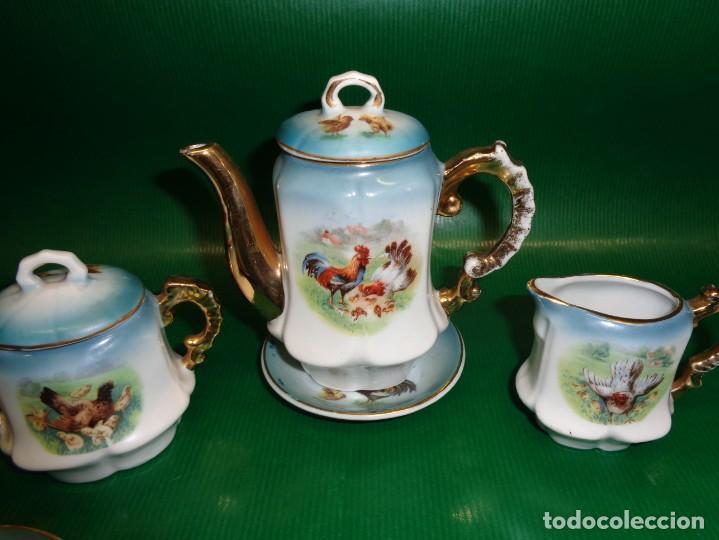 Vestidos Muñeca Española Clásica: Antiguo juego cafe o te para muñecas porcelana y oro, Aprox. años 1900-1910. - Foto 2 - 169011060