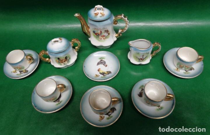 Vestidos Muñeca Española Clásica: Antiguo juego cafe o te para muñecas porcelana y oro, Aprox. años 1900-1910. - Foto 3 - 169011060