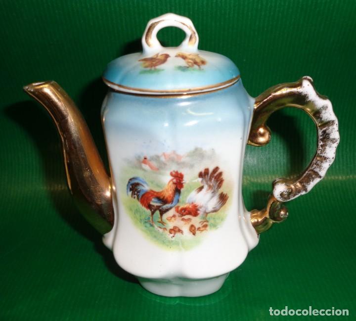 Vestidos Muñeca Española Clásica: Antiguo juego cafe o te para muñecas porcelana y oro, Aprox. años 1900-1910. - Foto 6 - 169011060
