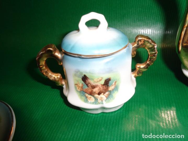 Vestidos Muñeca Española Clásica: Antiguo juego cafe o te para muñecas porcelana y oro, Aprox. años 1900-1910. - Foto 8 - 169011060
