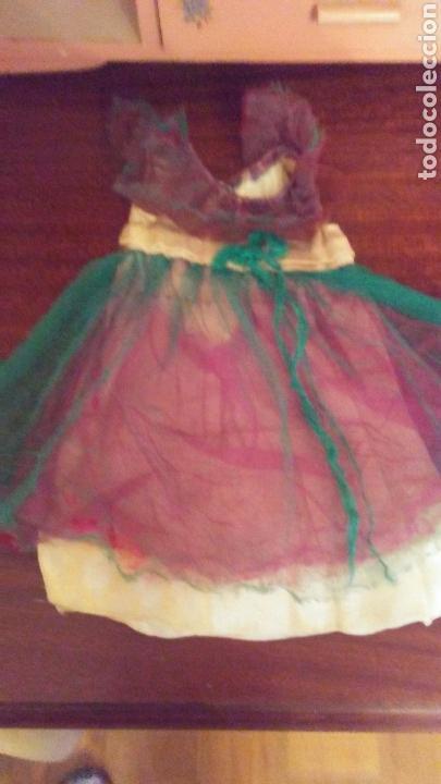 VESTIDO CON TUL DE COLORS MUÑECA CAYETANA (Juguetes - Vestidos y Accesorios Muñeca Española Clásica (Hasta 1960) )