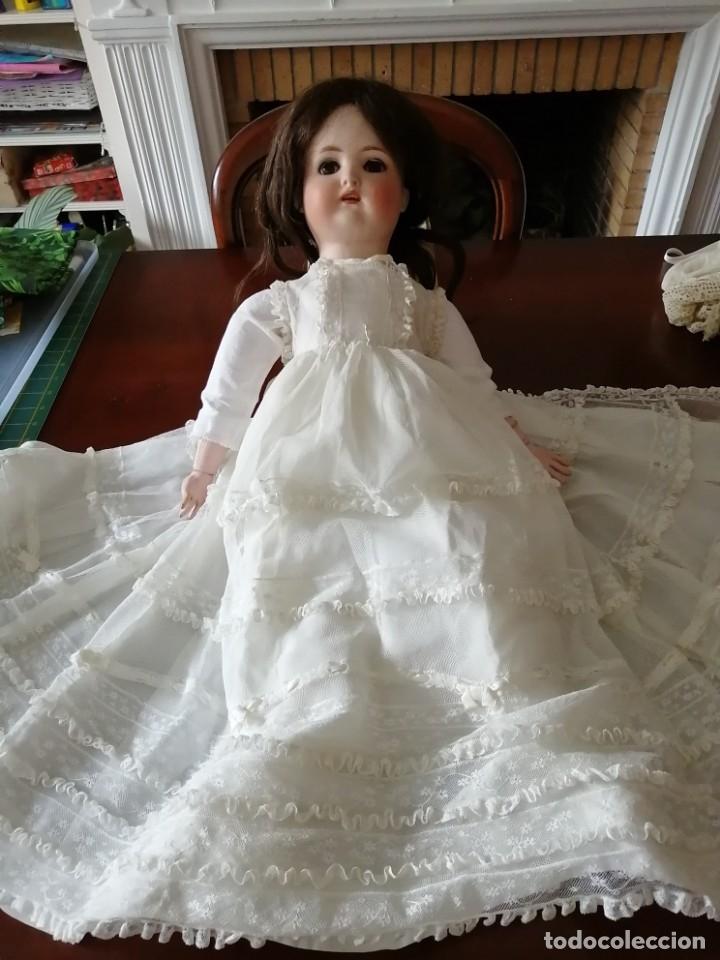 Vestidos Muñeca Española Clásica: Vestido de muñeca bisquit de cristianar (bautizo) con puntas ant valen todo encañonado precioso! 46 - Foto 2 - 178263618