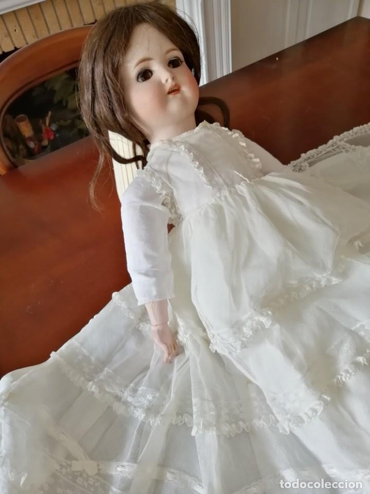 Vestidos Muñeca Española Clásica: Vestido de muñeca bisquit de cristianar (bautizo) con puntas ant valen todo encañonado precioso! 46 - Foto 4 - 178263618