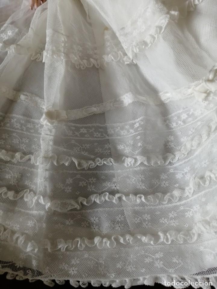 Vestidos Muñeca Española Clásica: Vestido de muñeca bisquit de cristianar (bautizo) con puntas ant valen todo encañonado precioso! 46 - Foto 5 - 178263618