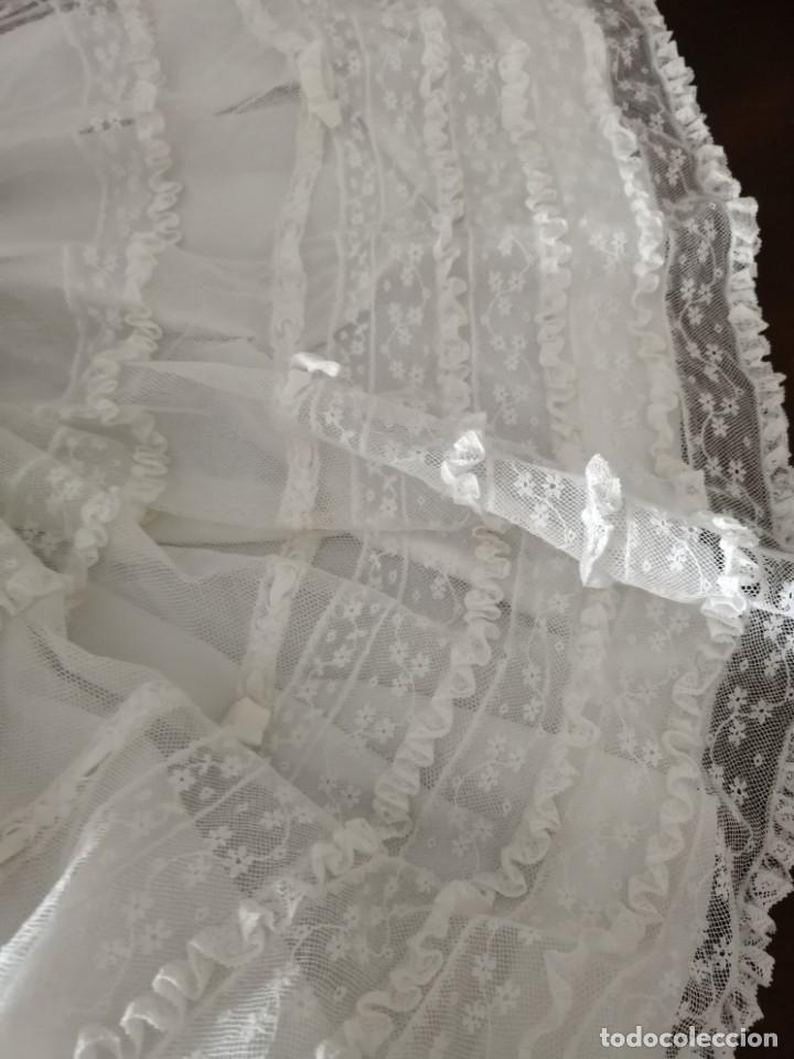 Vestidos Muñeca Española Clásica: Vestido de muñeca bisquit de cristianar (bautizo) con puntas ant valen todo encañonado precioso! 46 - Foto 6 - 178263618