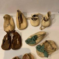 Vestidos Muñeca Española Clásica: LOTE 5 PARES DE ZAPATOS PARA MUÑECA TIPO GISELA, CAYETANA, MARIQUITA PEREZ ORIGINALES (G). Lote 179539138