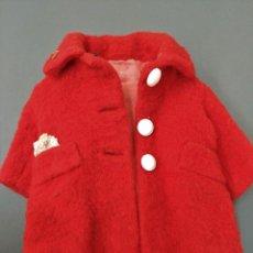 Vestidos Muñeca Española Clásica: ABRIGO ROJO FIELTRO CON FORRO - MARIQUITA PEREZ GRANDE. Lote 182360772