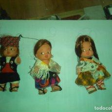 Vestidos Muñeca Española Clásica: LOTE 3 MUÑECOS REGIONALES 11 CM. Lote 182866862