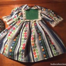 Vestidos Muñeca Española Clásica: VESTIDO MUÑECA TIPICO FINALES 60 PARA MUÑECA DELGADA TIPO LILI O SIMILAR. Lote 182906888