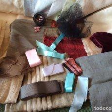 Vestidos Muñeca Española Clásica: LOTE TELAS Y LAZOS. Lote 185247160