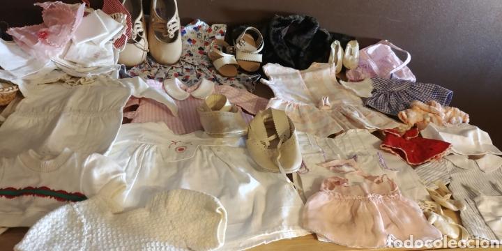 GRAN LOTE DE ROPA Y ZAPATOS MUÑECA ANTIGUA (Juguetes - Vestidos y Accesorios Muñeca Española Clásica (Hasta 1960) )