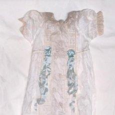 Vestidos Muñeca Española Clásica: VESTIDO MUÑECA AÑOS 30 TALLA 60 FLOR AZUL, NUEVO RESTO TIENDA NO JUGADO. Lote 191435908