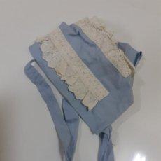 Vestidos Muñeca Española Clásica: GORRITO AZUL Y BLANCO (730). Lote 191697482