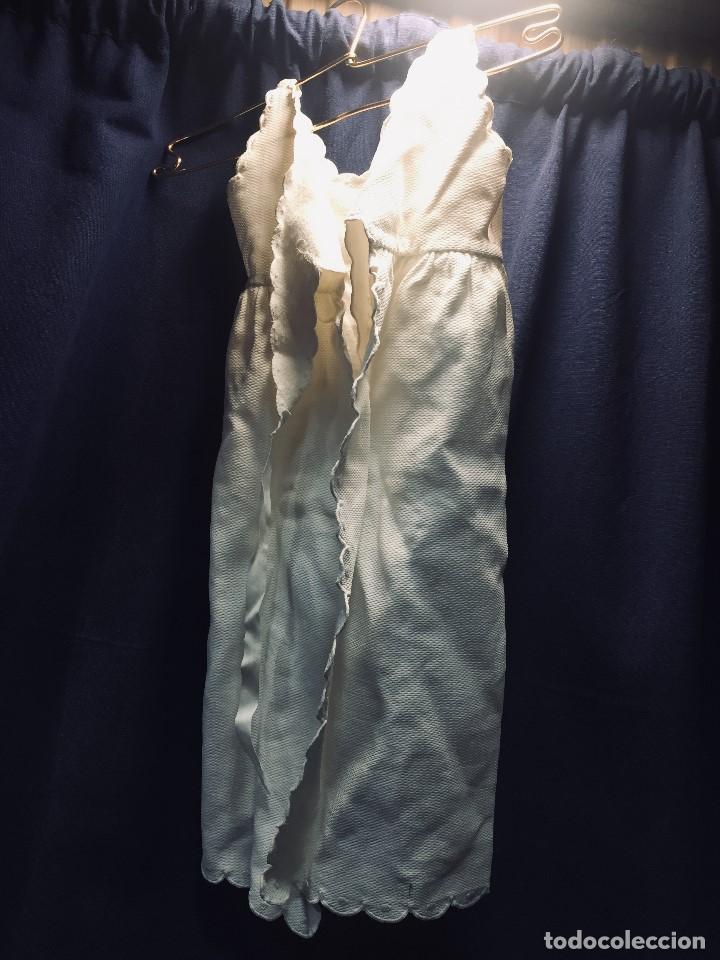 Vestidos Muñeca Española Clásica: VESTIDO ALGODON PIQUE DOS TIRANTES BEBE MUÑECA FALDON SE ATA POR DETRAS 54CMS AÑOS 40 50 - Foto 3 - 193888520