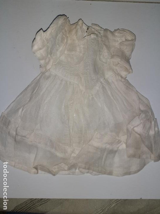 VESTIDO BLANCO (1049) (Juguetes - Vestidos y Accesorios Muñeca Española Clásica (Hasta 1960) )
