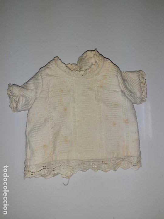 BLUSITA CON ENCAJE MANGA VORTA (1046) (Juguetes - Vestidos y Accesorios Muñeca Española Clásica (Hasta 1960) )