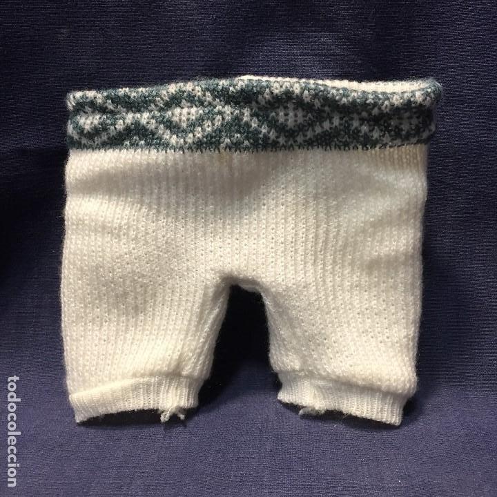 Vestidos Muñeca Española Clásica: antiguo traje 2 piezas pantalon jersey muñeca color blanco hecho a mano corchetes - Foto 3 - 194872185