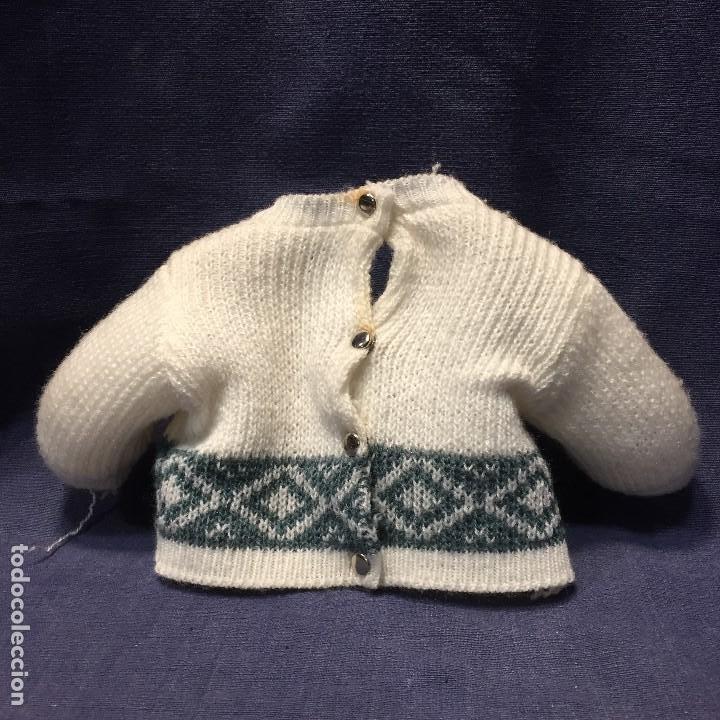 Vestidos Muñeca Española Clásica: antiguo traje 2 piezas pantalon jersey muñeca color blanco hecho a mano corchetes - Foto 4 - 194872185