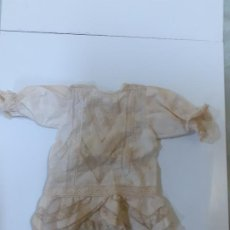 Vestidos Muñeca Española Clásica: VESTIDO BEIGE MUY ANTIGUO (CA1070). Lote 195185143