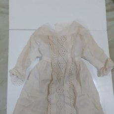 Vestidos Muñeca Española Clásica: VESTIDO BLANCO MUY ANTIGUO (CA1069). Lote 195185596