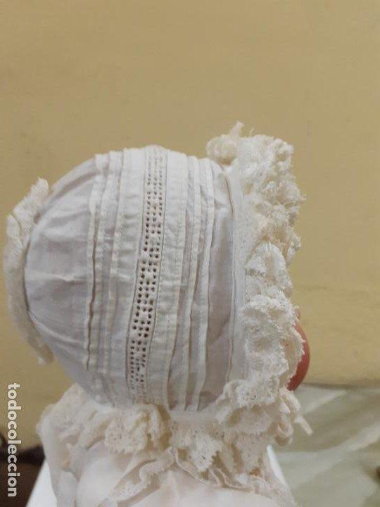 Vestidos Muñeca Española Clásica: GORRITO BLANCO ANTIGUO (1149) - Foto 4 - 195384450