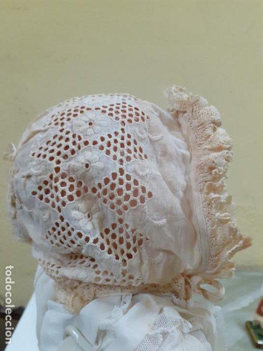 Vestidos Muñeca Española Clásica: GORRITO BEIGE CON LAZOS ANTIGUO (1154) - Foto 4 - 195384920