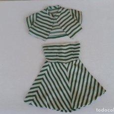 Vestidos Muñeca Española Clásica: CONJUNTO DE VESTIDO Y CHAQUETA PARA MUÑECA ANTIGUA MARILO. Lote 196206298