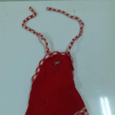 Vestidos Muñeca Española Clásica: BAÑADOR ROJO CON BORDADO (1635). Lote 206837460