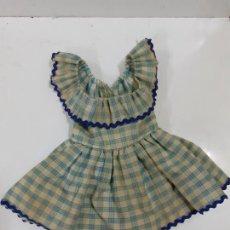 Vêtements Poupée Espagnole Classique: VESTIDO CUADROS AZULES (1655). Lote 207484446