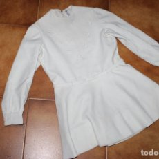 Vestidos Muñeca Española Clásica: VESTIDO DE COMUNIÓN O CEREMONIA VINTAGE DE LOS AÑOS 60 PARA NIÑA. Lote 211934066