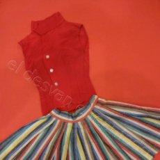 Vestidos Boneca Espanhola Clássica: LOTE 2 PRENDAS PARA MUÑECA TAMAÑO GRANDE. ORIGINALES AÑOS 1950S. Lote 218281798