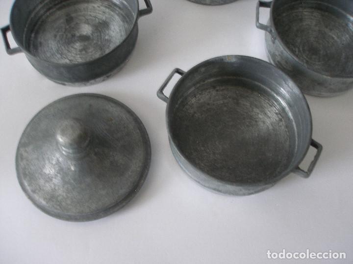 Vestidos Muñeca Española Clásica: Antigua fiambrera calienta cazuelas en zinc y madera - Foto 5 - 221123001