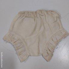 Vestidos Muñeca Española Clásica: BRAGUITA BEIGE CON VOLANTES (2544/21). Lote 257435030
