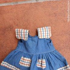 Vestidos Muñeca Española Clásica: VESTIDO ANTIGUO AÑOS 50 PARA MUÑECA DE 36 A 39 CM. Lote 258843985