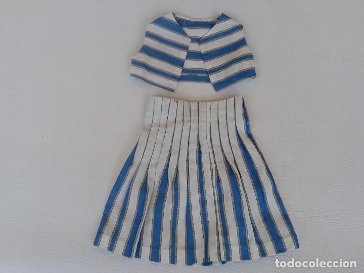 TRAJE DE CHALECO Y FALDA PARA MUÑECA ANTIGUA MARILO (Juguetes - Vestidos y Accesorios Muñeca Española Clásica (Hasta 1960) )