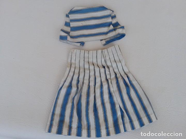 Vestidos Muñeca Española Clásica: TRAJE DE CHALECO Y FALDA PARA MUÑECA ANTIGUA MARILO - Foto 2 - 276185843