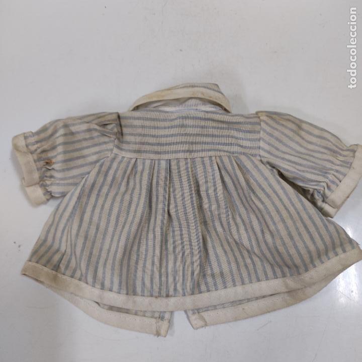 VESTIDO AZUL Y BLANCO (4051/21) (Juguetes - Vestidos y Accesorios Muñeca Española Clásica (Hasta 1960) )