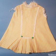Vestidos Muñeca Española Clásica: VESTIDO AMARILLO MUÑECA ANTIGUA. Lote 289299588