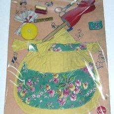 Vestidos Muñecas Españolas: CONJUNTO DE COSTURERA PARA NIÑA AÑOS 50. Lote 27639502