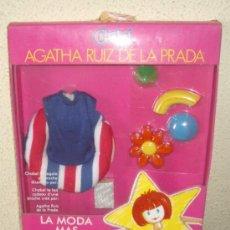 Vestidos Muñecas Españolas: VESTIDO DE CHABEL,AGATHA RUIZ DE LA PRADA,CAJA ORIGINAL,A ESTRENAR. Lote 20452439
