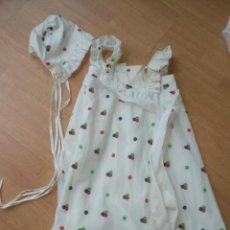 Vestidos Muñecas Españolas: 9/ FALDON PARA MUÑECA BEBE AÑOS 60/70 CON CAPOTA. Lote 27082677