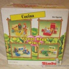 Vestidos Muñecas Españolas: COCINA TEDDY BEAR WORLD,SIMBA,SYLVANIAN FAMILIES,A PILAS,CAJA ORIGINAL,A ESTRENAR. Lote 32127432