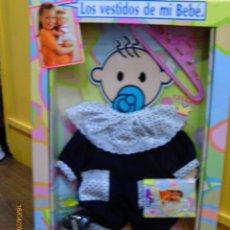 Vestidos Muñecas Españolas: CONJUNTO PELELE MARINO BABY BEBÉ.FEBER AÑO 1990.NUEVO EN CAJA.. Lote 48939188